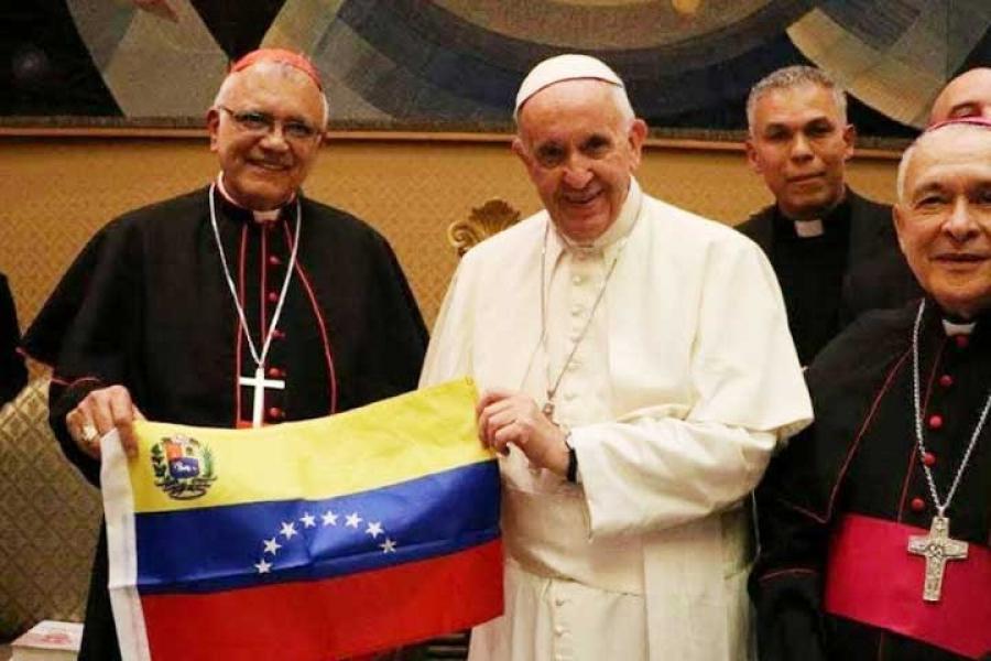 Papa Francisco y obispos Venezolanos